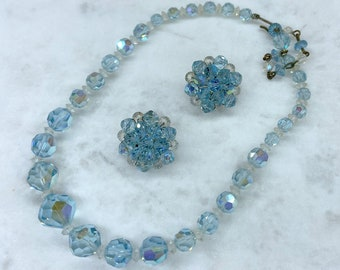 Light Blue Crystal Jewelry, Vintage Jewelry, Something Blue, Mothers Day Gift From Daughter