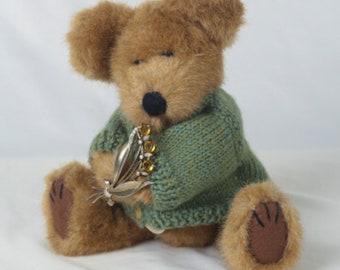 Vintage Teddy Bear, Boyds Bear, Vintage Brooch, Granddaughter Gift