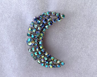Celestial Brooch, Moon Jewelry, 1940s Brooch, Mothers Day Gift from Daughter