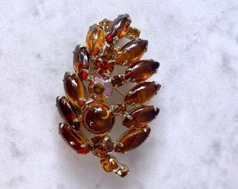 Weiss Brooch, Leaf Brooch, Autumn Jewelry, Best Friend Gift