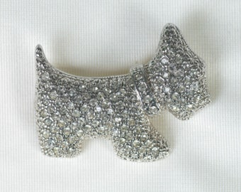 Scotty Dog Brooch, 1940s Brooch, Vintage Jewelry, Dog Lover Gift