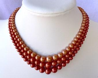 Choker, Graduated Pearl Necklace, Costume Jewelry, Zero Waste Gift