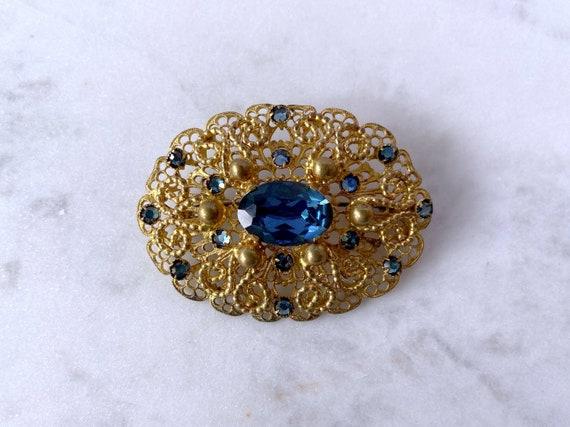 Antique Brooch, Edwardian Jewelry, Gold Brooch, Se