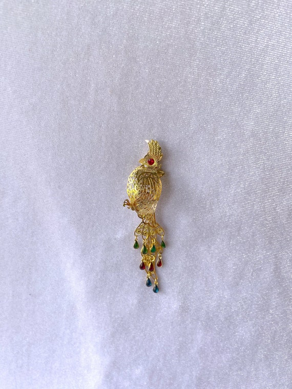 Parrot Jewelry, Parrot Pin, Parrot Necklace, Best