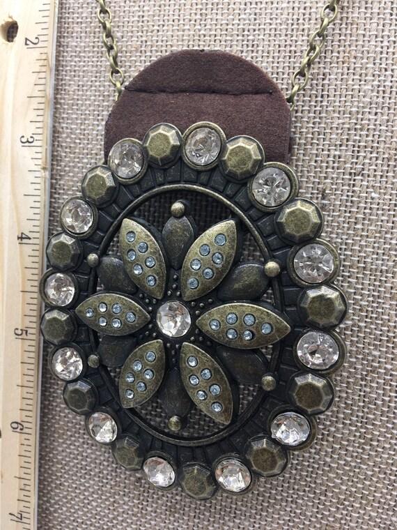Vintage Belt buckle necklace