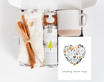 UnBoxMe Warm + Cozy Care Package For Her With Personalized Card   Thinking Of You, Get Well Soon Care Package, Birthday Gift Box For Women