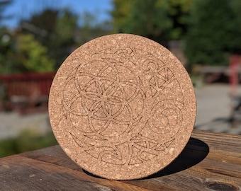 Cork Pot Holder - Tribal Moon Suttle