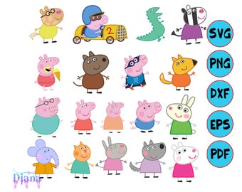 picture regarding Peppa Pig Character Free Printable Images titled Peppa pig decoration Etsy
