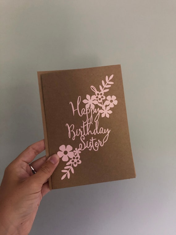 Happy Birthday Sister Card Sister Birthday Card Birthday Etsy