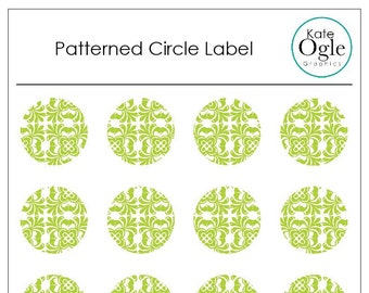 Circle Label/Bright Blue Sticker/Letters/Event Invites/Thank