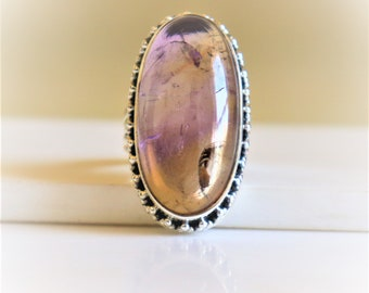 18.97ct Extra Large Natural Top-Grade Bi-Color Ametrine In Sterling Silver Cocktail Ring Size 8