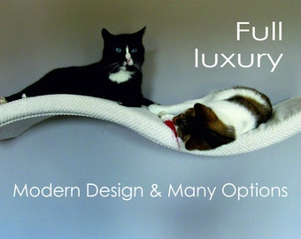 WAVE 95 SR cat shelf, cat shelves, cat furniture, cat bed, cat furniture wall, kitten, kitty, wandregal katze, katzenmöbel, cat gift, cat