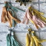 Handmade Enchanted Silk Chiffon Boho Macrame Earrings