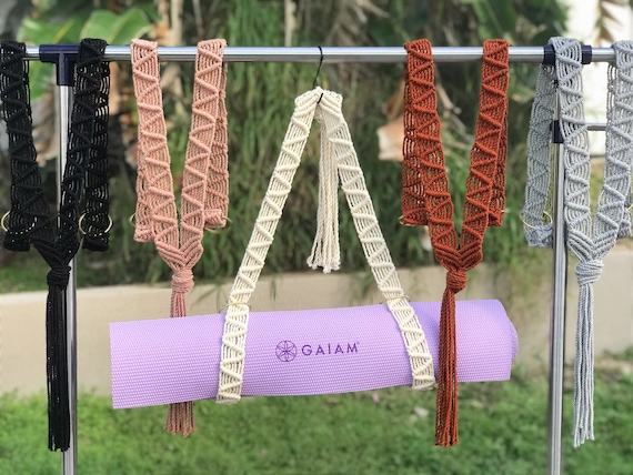 Macrame Fringe Macrame Yoga Mat Strap Boho Yoga Mat Strap Yoga Bag Bohemian