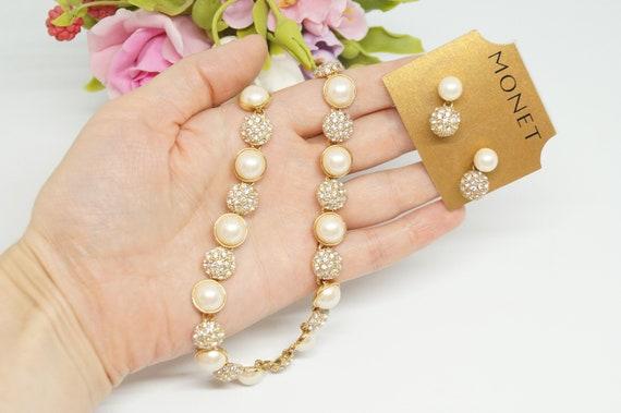 Monet pearl set
