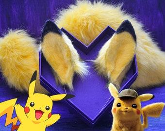 Cosplay Pokemon Pikachu Fleece ears tails or sets