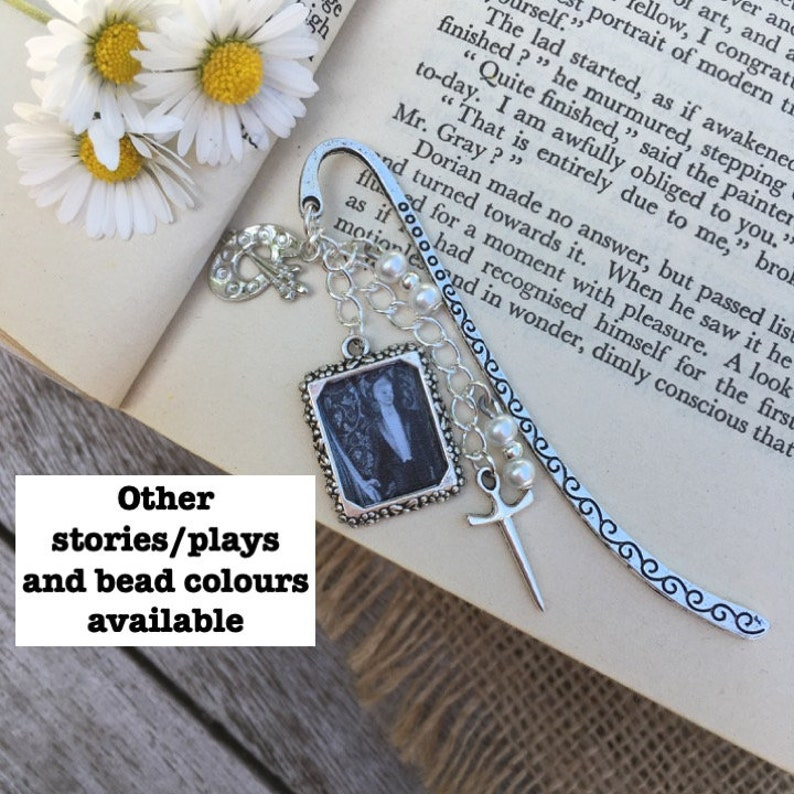 Oscar Wilde beaded bookmark - other short stories/plays and bead colours  available