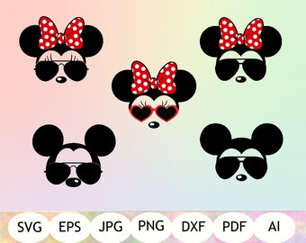 2c2e23be71 Mickey and Minnie Mouse Sunglasses SVG