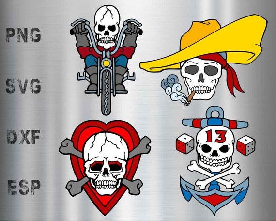 Old school Tattoo Death Skull vector files svg eps dxf | Etsy