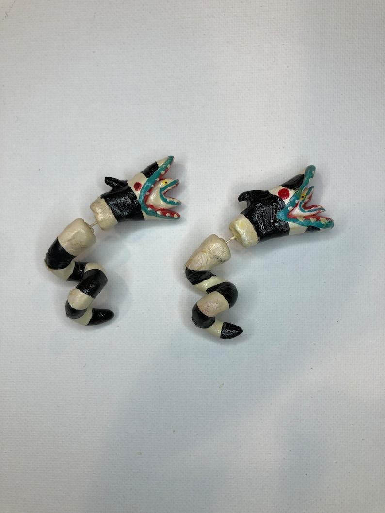 Beetlejuice Sandsnake Earrings