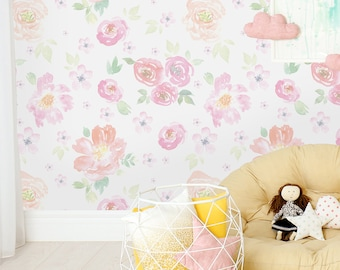 floral wallpaper etsyfloral vintage floral wallpaper removable wallpaper peel and stick wallpaper wall mural self adhesive wallpaper