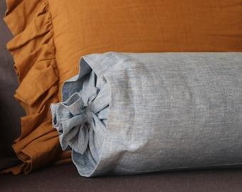 Half Bolster pillow case linen pillow