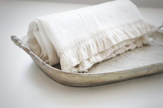 softened linen towel organic bath towel sauna towel Striped linen bath towel
