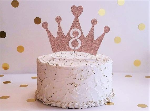 Stupendous Crown Cake Topper Tiara Cake Topper Princess Birthday Party Etsy Funny Birthday Cards Online Amentibdeldamsfinfo