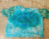 Assorted tie dye baby shirt, earth baby shirt, green baby shirt, boho blue baby shirt, boho teal baby shirt, hippie baby shirt,  blue shirt