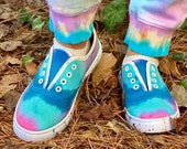 Tie dye shoes, tie dye sneakers, artsy handmade shoes, tie dye boho shoes, hippie tie dye shoes, hippie sneakers, hipster shoes, tie dye