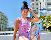 Flower child top, hippie tie dye tank top, tie dye summer top, hippie tie dye shirt, hippie tie dye, Hippie Comfort, tie dye summer shirt,