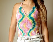 Pink boho bodysuit, blue boho bodysuit, blue dyed bodysuit, hipster bodysuit, heady bodysuit, festival bodysuit, summer bodysuit, hippie