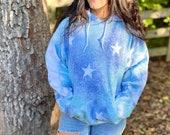 Galaxy hoodie, tie dye hoodie, hippie tie dye hoodie, custom tie dye hoodie, custom hippie hoodie, hippie tie dye hoodie, hoodie with stars,