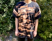 Zebra bleach shirt, heady bleach shirt, hipster bleach shirt, Zebra black shirt, zebra hippie shirt, bleach heady shirt, bleach dye shirt