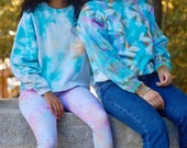 Tie dye pullover, teal hippie pullover, boho tie dye pullover, teal boho pullover, wavy dyed pullover, hipster pullover, beachy pullover,