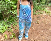 Handmade tie dye jumpsuit, hippie tie dye jumpsuit, summer tie dye, summer hippie tie dye, hipster tie dye overalls, boho handmade clothing