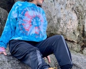 Tie dye pullover, hippie pullover, hipster sweatshirt, pinwheel sweatshirt, swirl sweatshirt, tie dye sweatshirt, heady sweatshirt, hipster