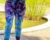 Hippie joggers, tie dye joggers, tie dye sweats, tie dye sweat suit, tie dye sweatpants, hippie sweatsuit, hippie sweatpants, blue tie dye