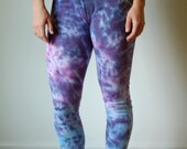 Boho galaxy leggings, purple dyed leggings, pink boho leggings, blue hippie leggings, blue boho leggings, hippie boho leggings, purple boho