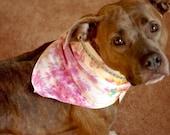 Pink dog bandana, rhinestone dog bandana, bling dog bandana, preppy dog bandana, tie dye dog bandana, hippie dog bandana, boho dog bandana