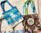 Handmade hippie totes, assorted tote bags, tie dye totes, pool boho totes, mermaid tote, beach tote bag, tie dye beach bag, tie dye pool bag