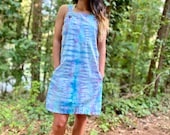 Tie dye overall dress, stripe overall dress, handmade overall dress, heady overall dress, boho overall dress, hippie overall dress, hipster