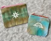 Tie dye handmade pouch, personalized pouch, boho handmade pouch, hippie handmade pouch, custom pouch, customized pouch, personalized