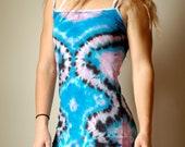 Pink tie dye dress, blue tie dye dress, beachy blue dress, hippie boho dress, summer boho dress, beachy blue dress, pink hippie dress, boho