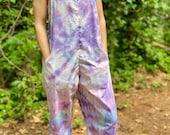 Tie dye jumpsuit, swirl overalls, handmade overalls, handmade tie dye jumpsuit, festival jumpsuit, beachy overalls, hippie overalls, hippie