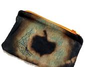 Pumpkin pouch, Halloween pouch, bleached pouch, bleach pumpkin pouch, pumpkin coin purse, bleach coin purse, heady pumpkin purse, pumpkin