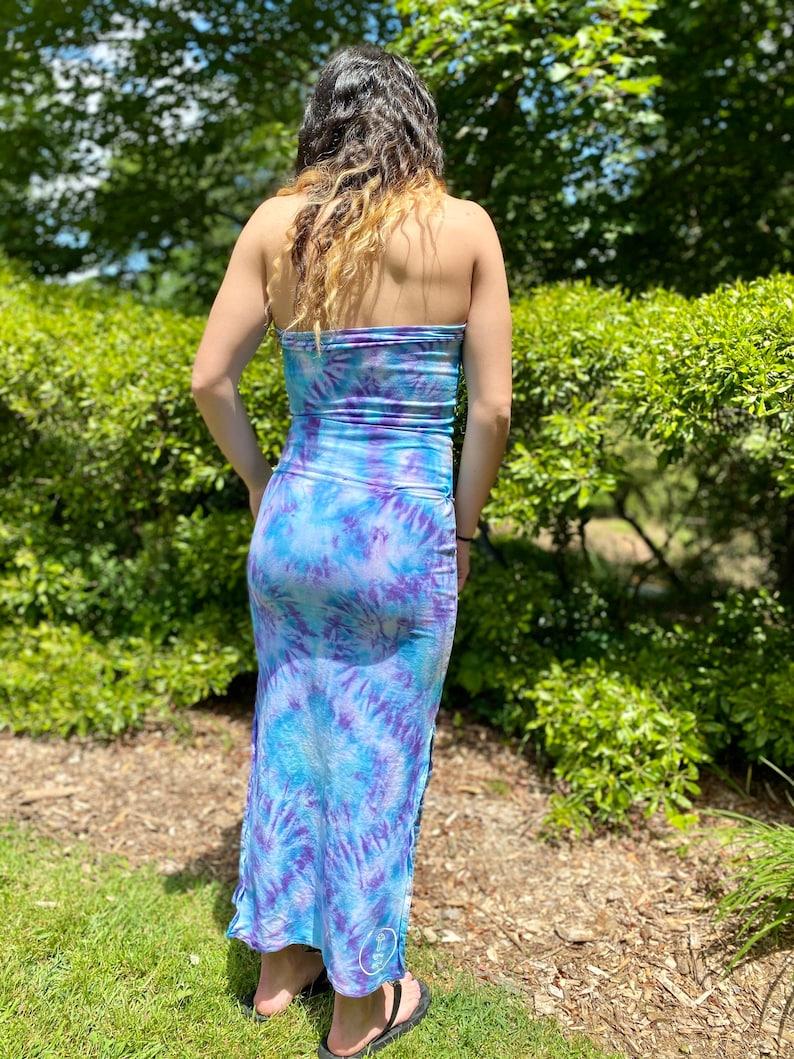 tie dye tube top hipster tube top set, tie dye maxi skirt heady skirt set Boho tube top set handmade skirt top set hippie skirt set