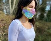 Tie dye face mask, reusable hippie mask, reversible boho mask, handmade face mask, hippie reversible face mask, cotton face mask, handmade