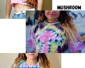 Assorted Size medium tie dye crop tops, Boho tie dye top, hipster crop top, tie dye summer top, blue tie dye top, wavy blue crop top, hippie