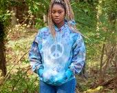 Peace sign sweatshirt, tie dye hoodie, olive green hoodie, purple peace hoodie, hipster sweatshirt, hippie tie dye hoodie, peace sign hoodie